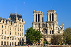 Free Notre-Dame Moon Afternoon Royalty Free Stock Photography - 68267697