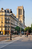 Notre Dame in the morning stock photos