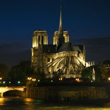 Notre-Dame at night 02, Paris, France royalty free stock image