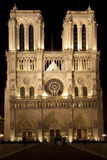 Notre Dame by Night Royalty Free Stock Image