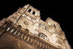Notre Dame by night Stock Photography