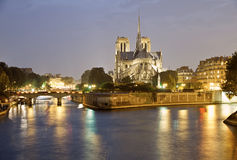 Notre Dame at night Royalty Free Stock Photography