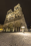 Notre-Dame at night Stock Photo