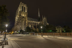 Notre-Dame at night Royalty Free Stock Photography