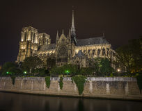 Notre-Dame at night Stock Images