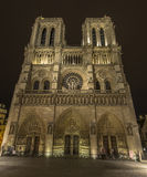 Notre-Dame at night Stock Photography