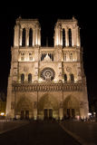 Notre Dame at Night Royalty Free Stock Photos