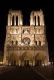 Notre Dame at Night Royalty Free Stock Photos