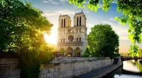 Notre Dame op Zegen royalty-vrije stock afbeelding