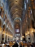 Notre Dame Outside Paris France lizenzfreies stockbild