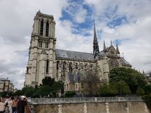 Notre Dame Outside Paris France royalty-vrije stock afbeelding