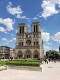 Notre Dame Outside Paris France fotografia stock libera da diritti