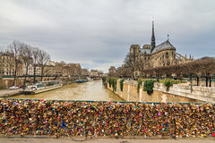 Notre Dame padlocks Royalty Free Stock Photo