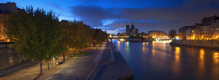 Notre Dame panorama stock photo