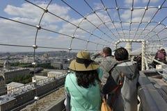 Notre Dame panoramautsikt, Paris Arkivfoton