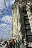 Notre Dame panoramautsikt, Paris Arkivbilder