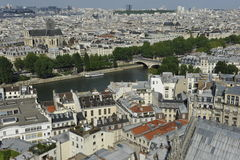 Notre Dame, Panoramic View, Paris Stock Photography