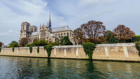 Notre Dame panoramic Royalty Free Stock Photo