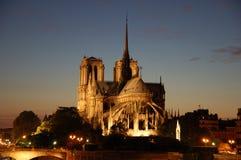 Notre Dame in Parijs stock afbeeldingen