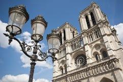 Notre dame Parijs stock afbeelding