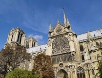 Notre Dame in Parijs Stock Afbeelding