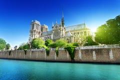 Notre Dame Parijs, Frankrijk Royalty-vrije Stock Afbeeldingen