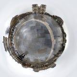 Notre Dame in Parijs 360 graden Royalty-vrije Stock Fotografie