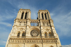 Notre Dame of Paris. Monument : West facade Royalty Free Stock Photo