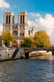 Notre Dame, Paris. Notre Dame view from Seine river, Paris Stock Photo