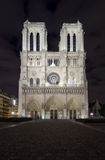 Notre Dame, Paris. Night scene of Notre Dame cathedral, Paris France Royalty Free Stock Image