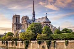 Notre Dame in Paris Stockfoto