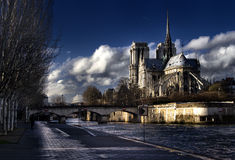 Notre Dame Paris. Day time Royalty Free Stock Photo