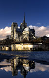 Notre Dame Paris. Day time Royalty Free Stock Images