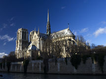 Notre Dame Paris. Day time Royalty Free Stock Photography