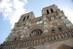 Notre dame - paris. Notre dame cathedrale in paris royalty free stock images