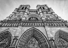 Notre Dame Paris in Black and White royalty free stock image