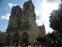 Notre Dame Paris Catedral Arkivfoton