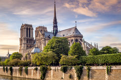 Notre Dame in Paris. Notre Dame Cathedral in Paris Stock Photo