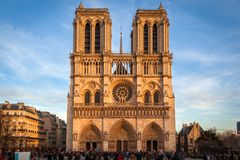 Notre Dame, Paris. The Cathedral of Notre Dame, Paris Stock Images