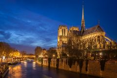 Notre Dame, Paris. The Cathedral of Notre Dame, Paris Stock Photos