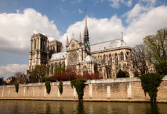 Notre Dame Paris. Notre Dame cathedral in Paris, France and Seine river royalty free stock photography