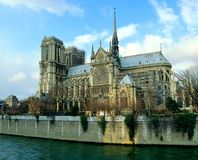 Notre Dame of Paris cathedral stock images