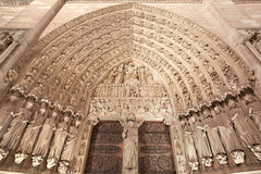 Notre Dame, Paris cathedral portal Royalty Free Stock Photography