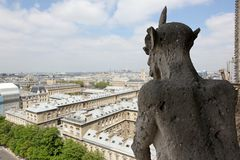 Notre Dame of Paris, famous of all Chimeras, Stock Image