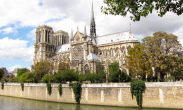 Notre Dame in Paris. The famous cathedral of Notre Dame in Paris Royalty Free Stock Image