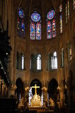Notre Dame, Paris, France. Notre Dame interior, Paris, France Royalty Free Stock Photography