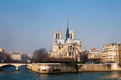 Notre Dame in paris france Royalty Free Stock Image