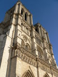 Notre Dame, Paris (France). View of cathedral of Notre Dame in Paris Royalty Free Stock Photo
