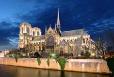 Notre Dame in Paris, France.  royalty free stock photography