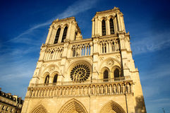Notre Dame in Paris France. Notre Dame in the afternoon sun in Paris France Royalty Free Stock Image